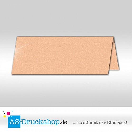 Tischkarte Platzkarte - Titan - mit glänzenden Partikeln 100 Stück 10,0 x 4,5 cm B079Q49YWW | Guter Markt