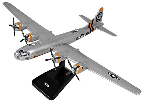 New 1:48 NEW RAY CLASSIC WWII – BOMBERS TRANSPORTER PLANES MODEL KITS SILVER B-29 SUPERFORTRESS Diecast Model By NEW RAY TOYS