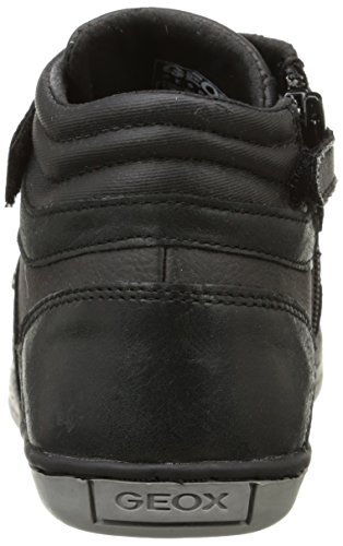 Geox JR GARCIA BOY B - zapatillas deportivas altas de cuero niños Negro (c9999black)