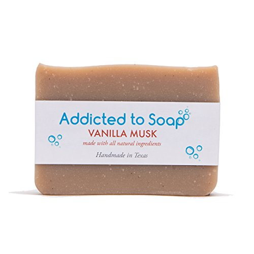 Addicted to Soap – Vanilla Musk Soap | Specially Formulated – All Natural Ingredients for Perfectly Clean Skin and a Beautifully Refreshing Scent - Handmade with Love in Texas