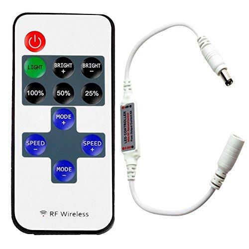 Generic RF Wireless Remote Control Mini Dimmer 12V-24V For Single Color LED (Color Strip Mini Led)