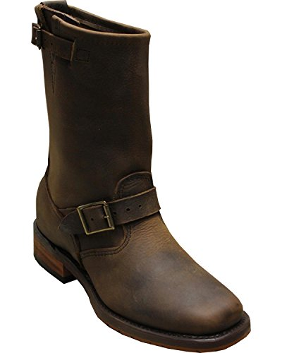 Abilene Mens Sage by 11 Engineer Boot Square Toe Brown 12 D Xc6Nr6H5