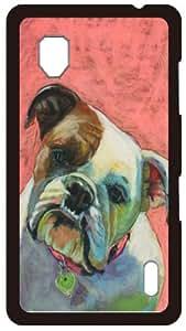 HeartCase Hard Case for Lg Optimus G E975 ( Bulldog Dog )