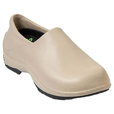 DAWGS Women's Premium  Working Slip Resistant Work Shoe,Tan/Black,5 M US