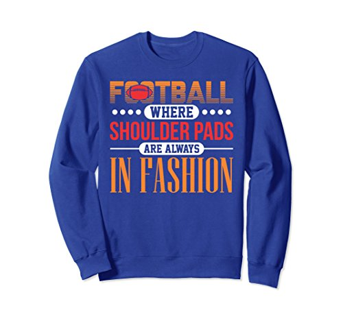ball Shoulder Pads Always In Fashion Sweaters Medium Royal Blue (Football America Shoulder Pads)