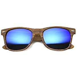 Wood Printed Frame Wide Temple Square Colored Mirror Lens Horn Rimmed Sunglasses 58mm 2 <p>Adventure outdoors with these horn rimmed sunglasses featuring a wooden printed frame and stylishly wide temples. Complete with vibrant colored mirror lenses for an eye-catching effect, these bold sunglasses are an accessory must-have. Wear it for a day outdoors or exploring a new city, these wooden horn rimmed sunglasses can be paired with any look. Made with plastic based frame, metal hinges, and reflective UV400 protected lenses. Lens Height: 42 mm | Lens Width: 58 mm | Bridge: 18 mm | Frame Total: 145 mm Retro Inspired Shape Wood Printed Horn Rimmed Frame Stylishly Wide Temples Colored Mirrored Square Lens 30 DAY MONEY BACK GUARANTEE AND 90 DAY LIMITED WARRANTY AGAINST MANUFACTURER DEFECTS: Our main goal is make our customers happy and provide the best shopping experience; If you are not completely satisfied with our product or your purchase please contact us, we'll be happy to help</p>