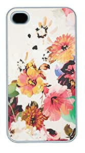 iPhone 4 4S Case, iCustomonline Topshop Floral Back Case Cover for iPhone 4 4S