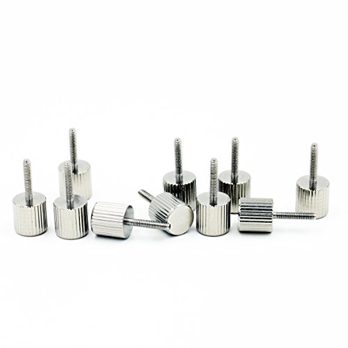 M2 x 10mm Knurled Screws,Stainless Steel,10 Pieces