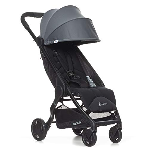 Ergobaby Metro Lightweight Baby Stroller, Compact Stroller with Easy One-Hand Fold, Grey ()