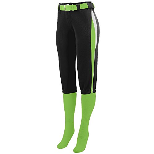 Augusta Sportswear WOMEN'S COMET SOFTBALL PANT S Black/Lime/White