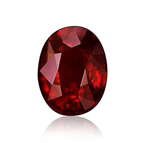 1.27Cts Pigeon Blood Ruby Loose Gemstone Oval Shape GRS Certificate by Leibish & Co