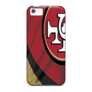 Excellent Hard Phone Case For Iphone 5c With Unique Design Realistic San Francisco 49ers Pattern AaronBlanchette