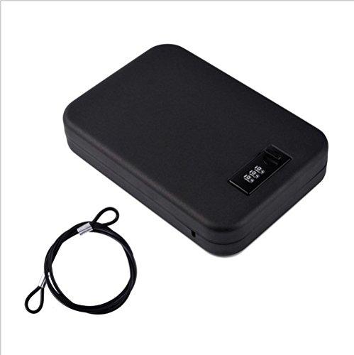 NUZAMAS Portable Safe Steel Combination Cable Lockbox Safe for Travel, Car or Home Use Lock Box Storage by NUZAMAS