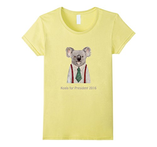 Women's Koala For President 2016 Funny T-Shirt Large Lemon