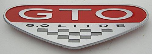 - Pontiac GTO 6.0L Fender Emblem Badge RED Style