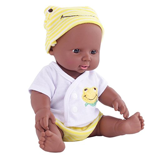 - OVERMAL Reborn Baby Doll Black Rare Alive African-American Soft Children Dolls with Clothes (Reborn Baby Doll, YELLOW)