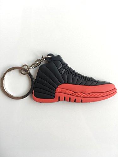 (Jordan Retro 12 Flu Game Sneaker Keychain Shoes Keyring AJ 23 OG)