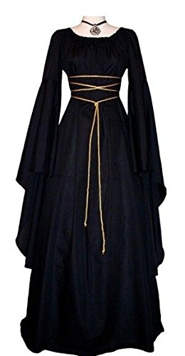 Misassy Womens Renaissance Costumes Medieval Irish Over Dress Victorian Retro Gown Cosplay (Small, -