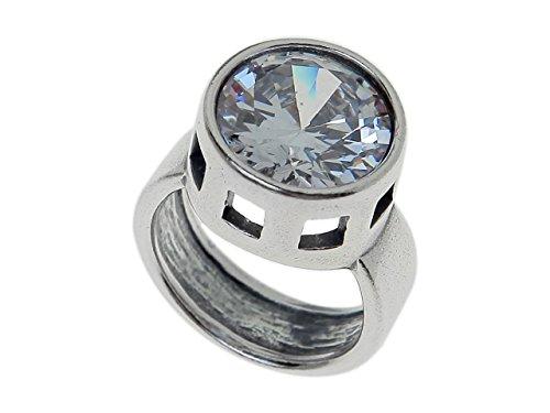 "Swarowsky Jenavi Ring""Kino"" w/Swarovsky Crystal, Size"