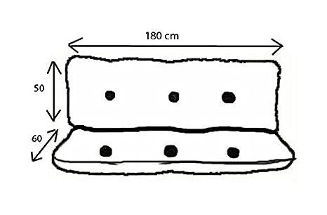 Ricambi Dondolo Da Giardino.Cuscino Di Ricambio Per Dondolo Da Giardino A Quattro Posti