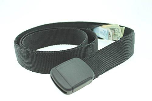 Big & Tall Hiker Money Belt Made in USA by Thomas Bates (Black)