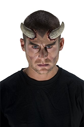 Realistic Demon Costume (68961 Demon Horns Latex Devil Horns White Horns)