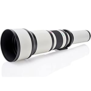 Opteka 650-1300mm (with 2x- 1300-2600mm) Telephoto Zoom Lens for Nikon D5, D4, D850, D810, D800, D750, D610, D600, D7500, D7200, D7100, D5600, D5500, D5300, D5200, D3400 and D3300 Digital SLR Cameras
