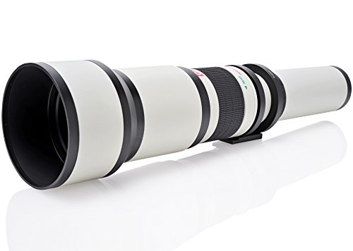 Opteka 650-1300mm (with 2x- 1300-2600mm) Telephoto Zoom Lens for Canon EOS 7D, 6D, 5D, 5Ds, 1Ds, 80D, 70D, 60D, 60Da, 50D, 40D, T6s, T6i, T6, T5i, T5, T4i, T3i, T3, T2i and SL1 Digital SLR Cameras