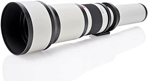 Opteka 650-1300mm (with 2x- 1300-2600mm) Telephoto Zoom Lens for Canon EOS 7D, 6D, 5D, 5Ds, 1Ds, 80D, 77D, 70D, 60D, 60Da, 40D, T7s, T7i, T6s, T6i, T6, T5i, T5, T4i, T3i and SL1 Digital SLR Cameras