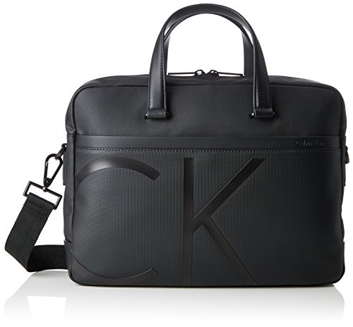 - Calvin Klein Raised Logo Laptop Bag Slim, Men's Bag, Black, 8x27x38 cm (B x H T)