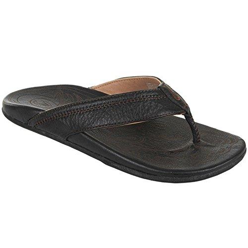 OluKai Hiapo Mens Sandals in Black/Black sz:12 ()