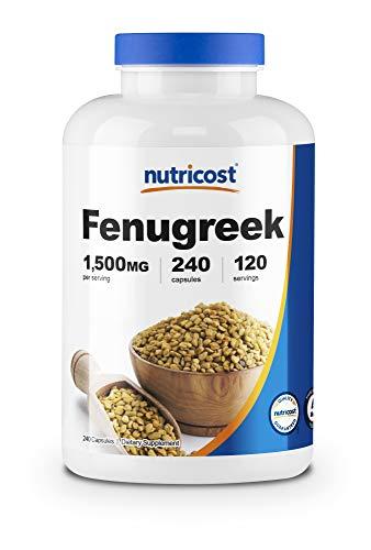 Nutricost Fenugreek Seed 1500mg, 240 Capsules – Gluten Free, Non-GMO, 750mg Per Capsule
