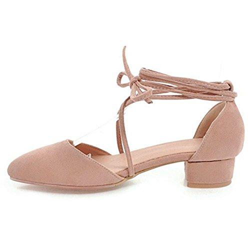 Estate 5 Scarpe Pink Donna TAOFFEN Primavera Stringate BYEwf1Oq