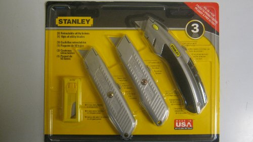 Stanley 3 Utility Knife Value Pack
