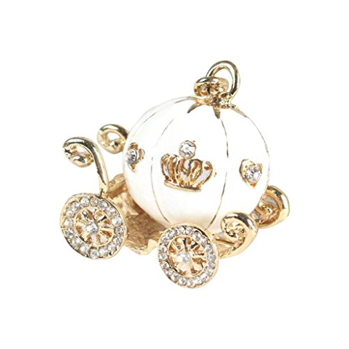 Clearance!Key Chain,Canserin Cute Pumpkin Carriage Crystal K