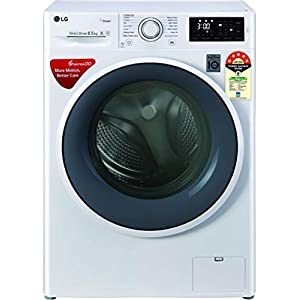 LG 6.5 Kg 5 Star Inverter Fully-Automatic Front Loading Washing Machine (FHT1265ZNW, White, 6 Motion Direct Drive)