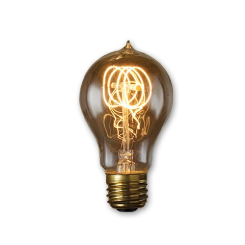 Bulbrite NOS60-VICTOR 60-watt Incandescent Nostalgic Victor Loop A19 with Medium Base, Antique (6 Pack)
