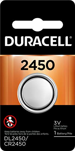 - Duracell - 2450 3V Lithium Coin Battery - long lasting battery - (Pack of 6)