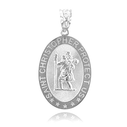 10k gold st christopher medal - 6