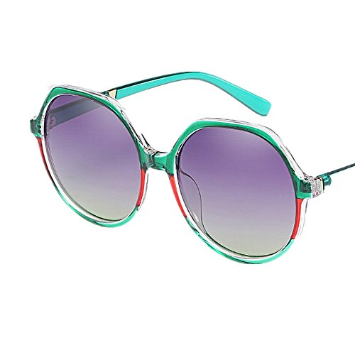 Protección polarizada Women's Al Beach Personalidad Color Gris Polígono Lente Summer Para libre de Oversized aire vacaciones Verde sol Frame Conducción de sol UV Gafas Gafas AAv0q