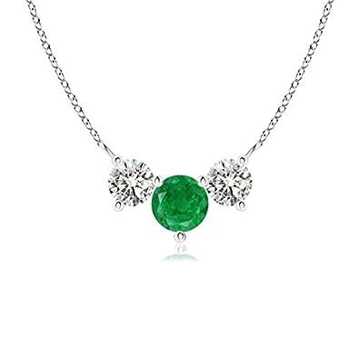 Angara Trio Emerald Pendant Past Present Future in Platinum 2vRbNtNl