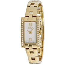 ESQ Flair Swarovski Crystal Mother of Pearl Dial Gold IP Stainless Steel Ladies Watch 07101374