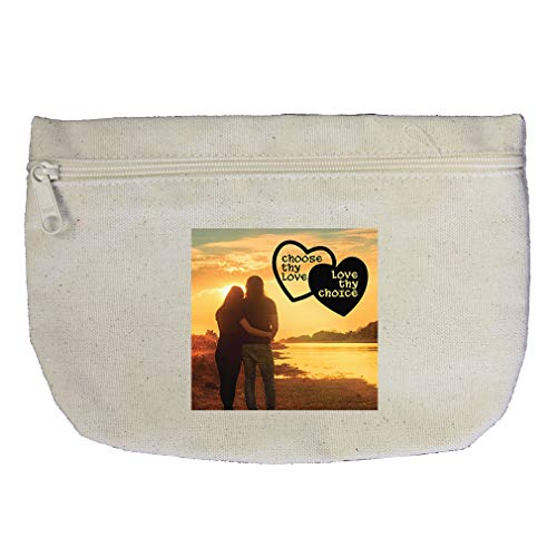 Choose Thy Love Love Thy Choice as Couple in Nature Cotton Canvas Makeup Bag by Style In Print