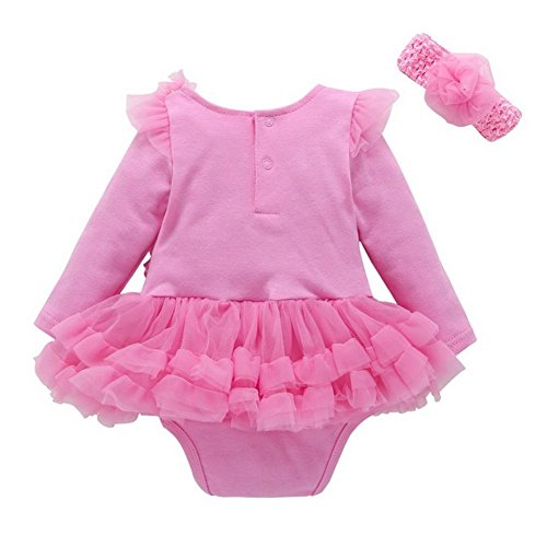 16a945408 De alta calidad ARAUS vestido Para Bebe Rojo Manga Larga Florales Falda De  Fiesta Princesa Con