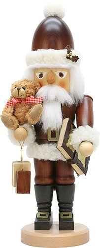German Christmas Nutcracker Santa Claus Teddy natural colors - 44,0 cm / 17 inch - Christian Ulbricht by Christian Ulbricht