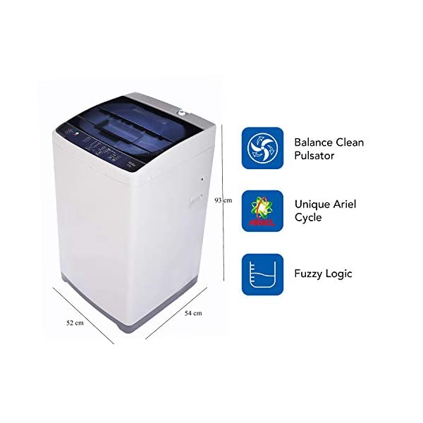 Haier 6.2 Kg Fully-Automatic Top Loading Washing Machine (HWM62-AE, White with Blue lid) 2021 June Fully-automatic top load washing machine: Affordable with great wash quality, Easy to use Capacity 6.2 kg: Suitable for small families Manufacturer warranty: 2 years on product, 5 years on motor