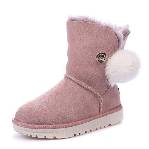 Women's Pink Non and Winter Boots Warm Slip BERTERI Snow 6wqdv6