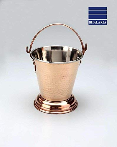 Bhalaria Copper Outside SS Inside Bucket, 330 Ml