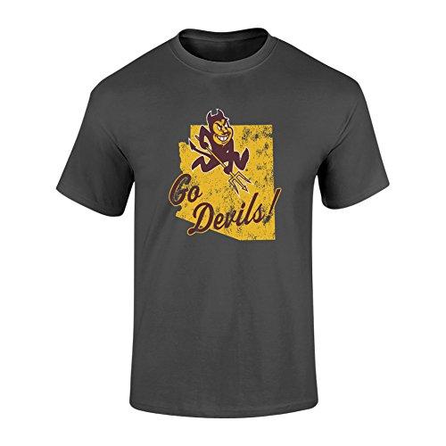 - Elite Fan Shop Arizona State Sun Devils Tshirt Vintage Charcoal - L