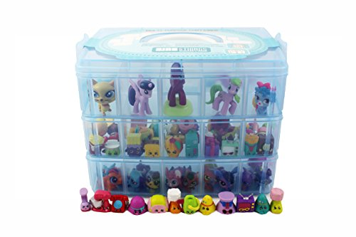 Bins u0026 Things Stackable Storage Container for Shopkins Littlest Pet Shop Rainbow Loom Beads Disney Tsum  sc 1 st  AlumiGogo & Bins u0026 Things Stackable Storage Container for Shopkins Littlest Pet ...